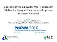 Upgrade of the Big Gulch WWTP Oxidation Ditches for ... - pncwa