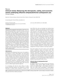 Clinical review: Balancing the therapeutic, safety ... - BioMed Central