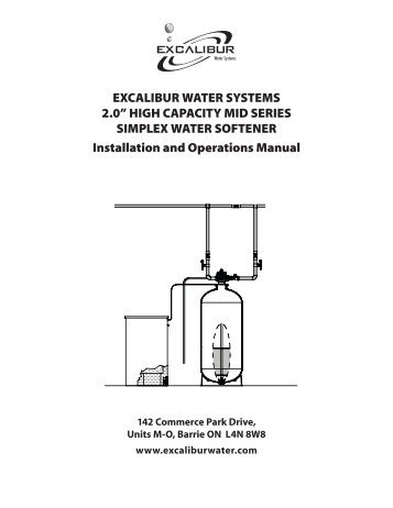 "2.0"" HiGH caPacity mid SEriES SimPlEx WatEr SOFtENEr installation"