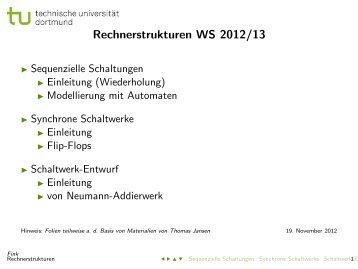 Rechnerstrukturen WS 2012/13