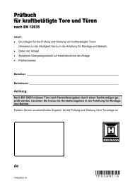 Pruefbuch fuer kraftbetaetigte Tore und Tueren nach EN ... - Hörmann