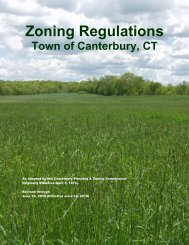 Zoning Regulations - Effective 6-18-2010 - Town of Canterbury CT