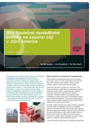 Vliv Společné zemědělské politiky na expanzi sóji v ... - Hnutí DUHA