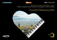 Depliant Concerti d - CastelBrando
