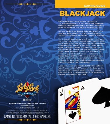 Blackjack Gaming Guide - Lady Luck Casino Nemacolin - Isle of ...