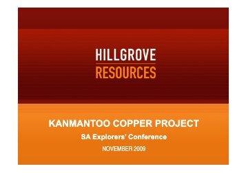 Update on Kanmantoo - SA Explorers