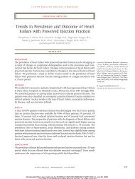 Trends in Prevalence and Outcome of Heart Failure with Preserved ...