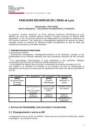Parcours recherche - École Nationale Supérieure d'Architecture de ...