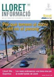 Per què tornem al doble sentit en el passeig - Ajuntament de Lloret ...