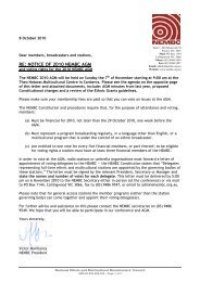 RE: NOTICE OF 2010 NEMBC AGM - National Ethnic and ...