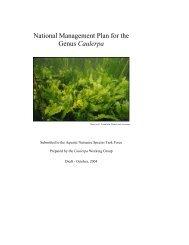 A Prevention Program for the Mediterranean Strain of Caulerpa ...