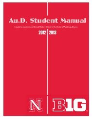 Au.D. Student Manual - the College of Education and Human ...
