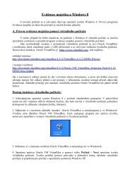 Evidence majetku a Windows 8