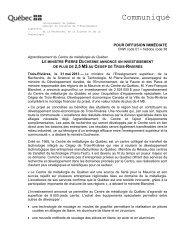 Le ministre Pierre Duchesne annonce un investissement de plus de ...