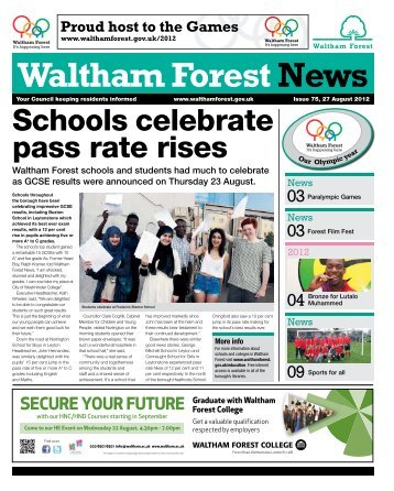 Issue 75: Schools celebrate pass rate rises - Waltham Forest Council
