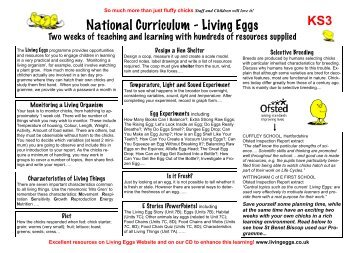 KS3 - Living Eggs