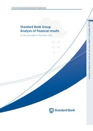 an analysis of financial results - Standard Bank - Investor Relations
