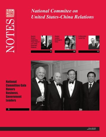 Newsletter May 2009 - National Committee on United States-China ...