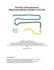 The Pros of Procalcitonin: Reducing Antibiotic Duration in the ICU
