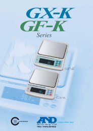 GX-K GF-K - A&D offers a wide and diverse range of measurement.