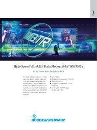 High-Speed VHF/UHF Data Modem ¸GM 3001S