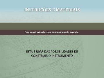 ISTRUZIONI E MATERIALI - Globo Local