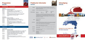 Praktische informatie Uitnodiging Programma