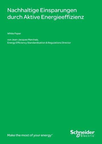 Nachhaltige Einsparungen durch Aktive ... - Schneider Electric