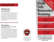 Lead Safe Renovator Training - Master Builders of Iowa