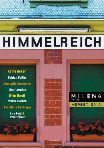 Herbst 2010 (PDF, 2.9MB) - Milena Verlag