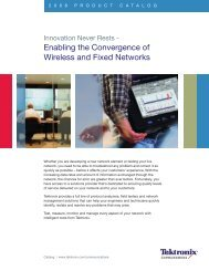 Enabling the Convergence of Wireless and Fixed Networks - Tektronix