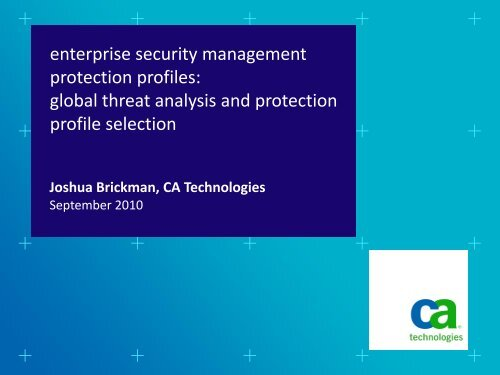 enterprise security management protection profiles: global threat ...