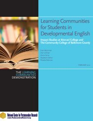 Learning Communities for Students in Developmental English