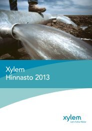 Xylem Hinnasto 2013 - Water Solutions