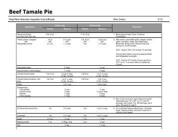 D-15: Beef Tamale Pie