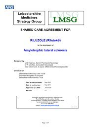 Leicestershire Medicines Strategy Group
