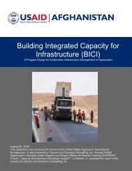 Building Integrated Capacity for Infrastructure (BICI) - part - usaid