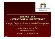 ENERGETIKA - Národní síť Zdravých měst ČR