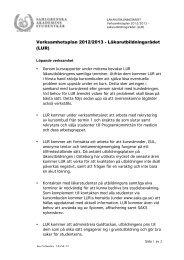 Verksamhetsplan 2012/2013 - Läkarutbildningsrådet (LUR)
