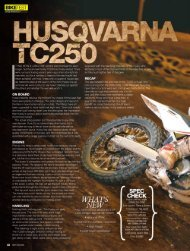 Test TC 250 Dirt Action - Husqvarna