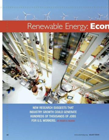 Renewable Energy:Econ - ASPO Australia