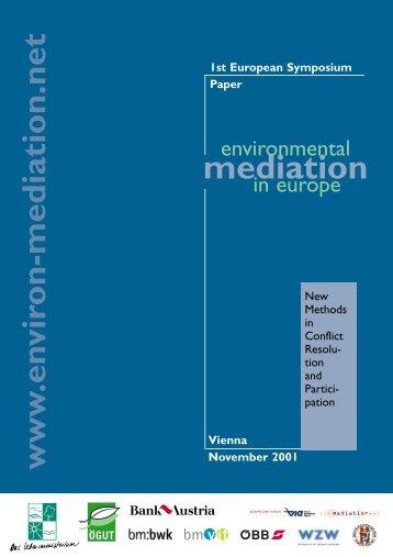 "Symposium ""Environmental Mediation in Europe"" - ÖGUT"