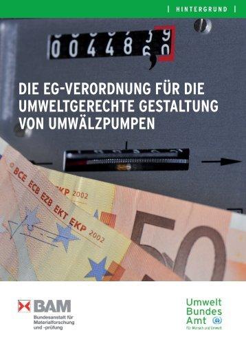 Die EG-Verordnung für die umweltgerechte Gestaltung von ...