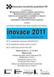 INOVACE 2011, Týden výzkumu, vývoje a inovací v ČR, 6. - AIP ČR