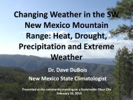 presentation from New Mexico State Climatologist - The Town of ...