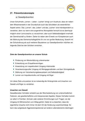 27. Präventionskonzepte a) Gewaltprävention - Regenbogenschule ...