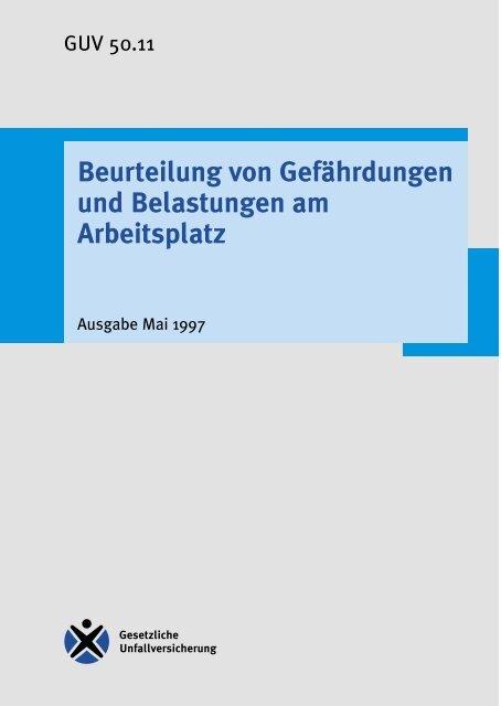 Beurteilung von Gefährdungen und ... - Konfliktfeld Pflege