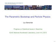 The Parametric Bootstrap and Particle Physics - Laboratory of ...