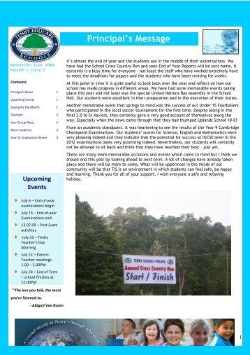 3ULQFLSDO·V 0HVVDJH - Tenby Schools Malaysia