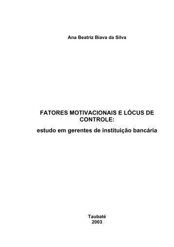 Ana Beatriz Biava da Silva FATORES ... - Ppga.com.br
